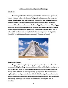 Pyramid of Knowledge Curriculum Guide