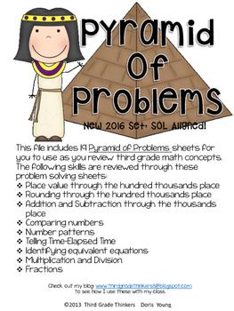 Pyramid of Problems Set 2: SOL Math Review Third Grade Tes