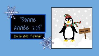 Pyramide de la nouvelle année: jeu pour le tableau interactif