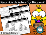 Pyramide de lecture ❤ Pâques #1 - FRENCH EASTER READING ACTIVITY