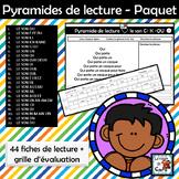 Pyramides de lecture - ENSEMBLE de 44 activités + Évaluati