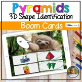 Pyramids 3D Shapes Digital Game   Boom Cards   Distance Learning