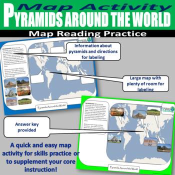 Pyramids Around the World Map Labeling Activity