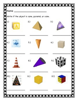 Pyramids, Cones, and Cubes