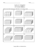 Volume and Surface Area of Prisms and Pyramids Worksheet Bundle