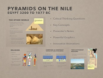 Pyramids On The Nile PowerPoint and Keynote Presentations