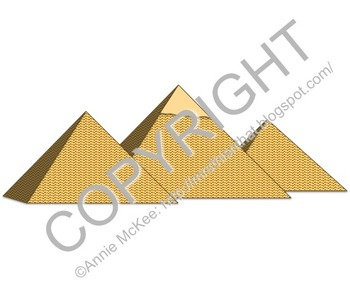 Pyramids at Giza Clip Art (personal and commercial use)