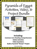 Ancient Egypt Pyramids Activities Bundle: Digital Learning or PDF/Print