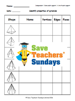 Pyramids worksheets, powerpoints and more