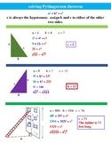 Pyth Theorem/Distance Formula Anchor Charts