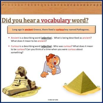 Pythagoras Mathematics Literacy and Comprehension NO PREP NO PRINT Unit