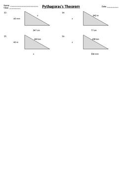 Pythagoras Theorem - Metric and Imperial