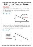 Pythagoras Theorem Reminder-Cheat Sheet