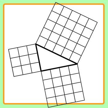 Pythagoras Triangle Diagrams / Clip Art Set for Commercial Use