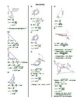 Pythagoras and Trigonometry Revision Questions