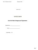 Pythagoras and Trigonometry Test Generator