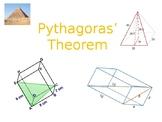Pythagoras, including 3D Pythagoras presentation.