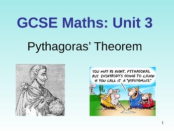 Pythagoras theorem lesson powerpoint and questions