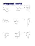 Pythagoras' theorem worksheet
