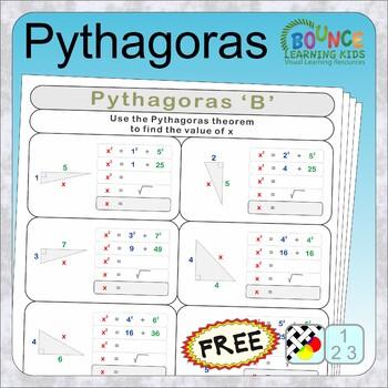 Pythagoras (14 Numeracy sheets) FREE
