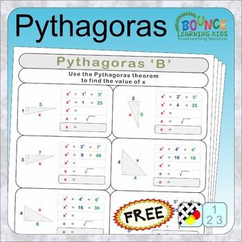 Pythagoras (14 distance learning worksheets for Numeracy) FREE