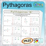 Pythagoras (pythagoras questions with working out distance