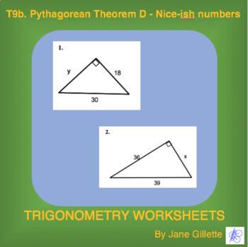 Pythagoream Theorem D – Nice-ish numbers