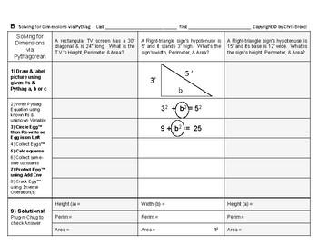 Pythagorean 08: Solving for Various Dimensions via the Pythagorean
