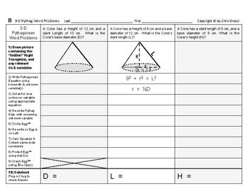 Pythagorean 10: Solving Three Dimensional Pythagorean Word Problems