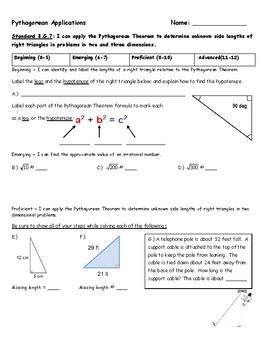 Pythagorean Applications Assessment - 8.G.7