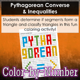 Pythagorean Converse & Inequalities Color-by-Number