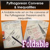 Pythagorean Converse & Inequalities Foldable