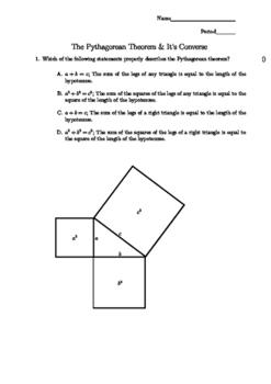 Pythagorean Multi-Choice Assessment