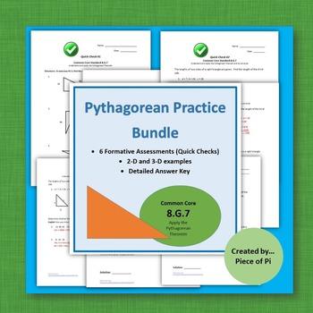 Pythagorean Theorem Test Prep Sub Plans Exit Tickets Bell Work 8.G.7 Geometry