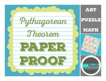 Pythagorean Paper Proof Activity:  Visual Proof Meets Art