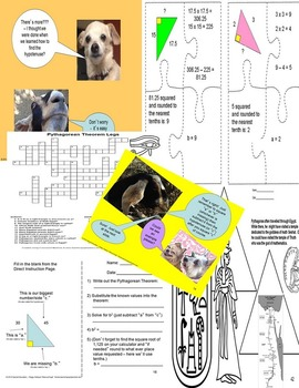 CCSS.MATH.CONTENT.8.G.B.6 Pythagorean Theorem Part 2 Legs SPED/ODD/ADHD/ESL