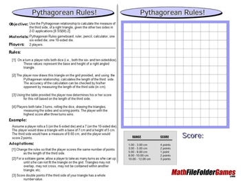 Pythagorean Rules: Pythagorean Theorem Math Game