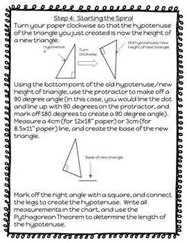 Pythagorean Spiral Project