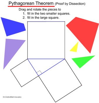 Pythagorean Tangram - SmartBoard Puzzle (Proof by Dissection)