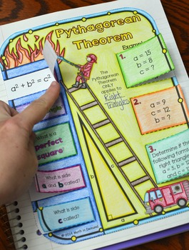 Pythagorean Theorem Foldable (Great for Math Interactive Notebooks)