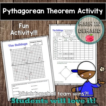 Pythagorean Theorem Baseball Activity