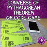 Pythagorean Theorem QR Game Identifying Right Triangles