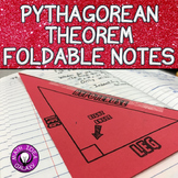 Pythagorean Theorem Foldable Notes for 8th Grade Math Interactive Notebook