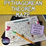 Pythagorean Theorem Digital Maze Activity 8th Grade Math