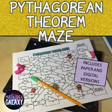 Pythagorean Theorem Digital Maze Activity 8th Grade Math