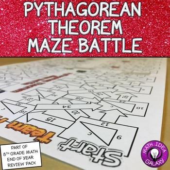 Pythagorean Theorem Maze Battle Game