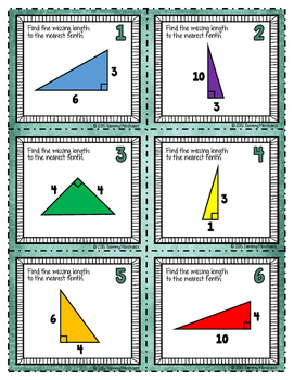 Pythagorean Theorem - 30 Task Cards