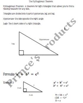 Pythagorean Theorem 8.G.6