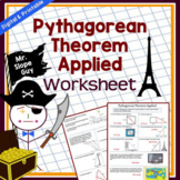 Pythagorean Theorem Activity Applied PDF Worksheet (Distance Learning)