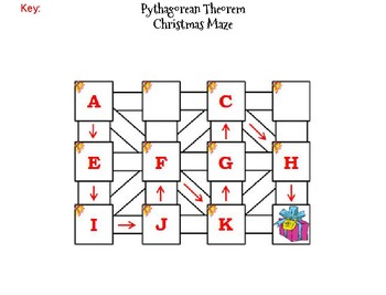 Pythagorean Theorem Activity: Christmas Math Maze